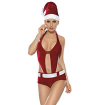 Christmas Body Costume - Sexy Santagirl