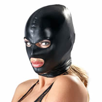 Wetlook Kopfmaske von Bad Kitty