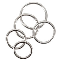 Cock Ring Set with 5 Metal Cock Rings