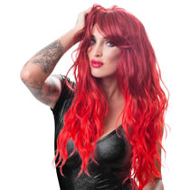 Red Wig with wavy long hair
