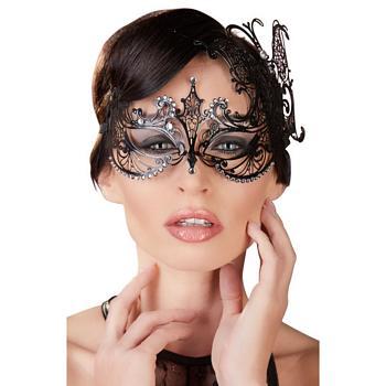 Venetians Augenmaske aus Metall mit Glitzersteinen