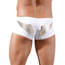 Mens Pants with Zipper and Angel Wings