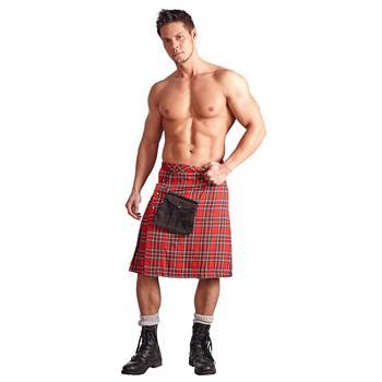Schotten Kilt Highlander in rot und weiss