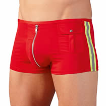 Mens Pants Fireman in Red