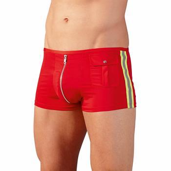 Herren Pants Fireman in Rot