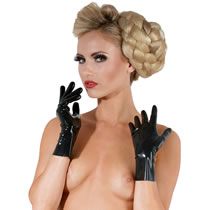Latex Gloves in Black