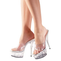 High Heel Shoe Sidney in Transparent