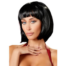 Chin-length Straight Bob Wig with Fringe