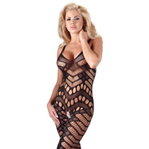 Net Bodystocking with Asymmetric Pattern