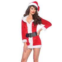 Forførende og frække julekostumer til hende.