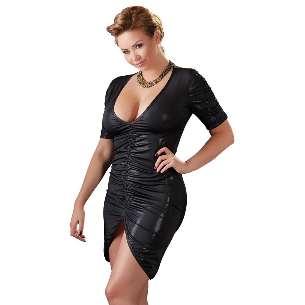 Plus Size Kjole med Draperinger