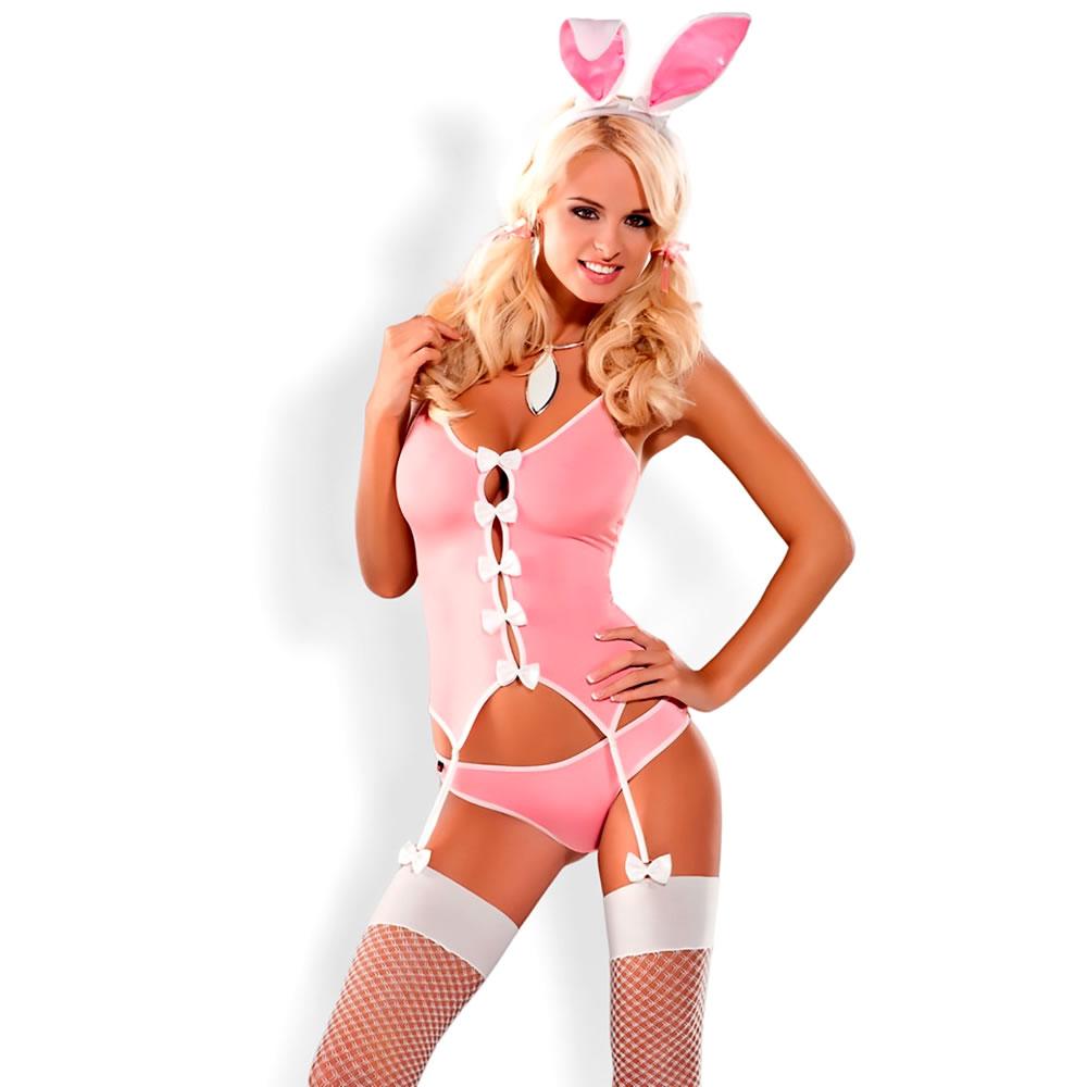 Bunny Strapshemd plus String im Häschen-Look