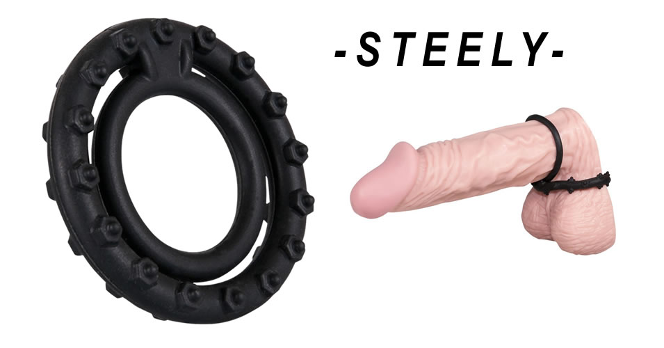 Penisring Steely Cockring med Testikelring