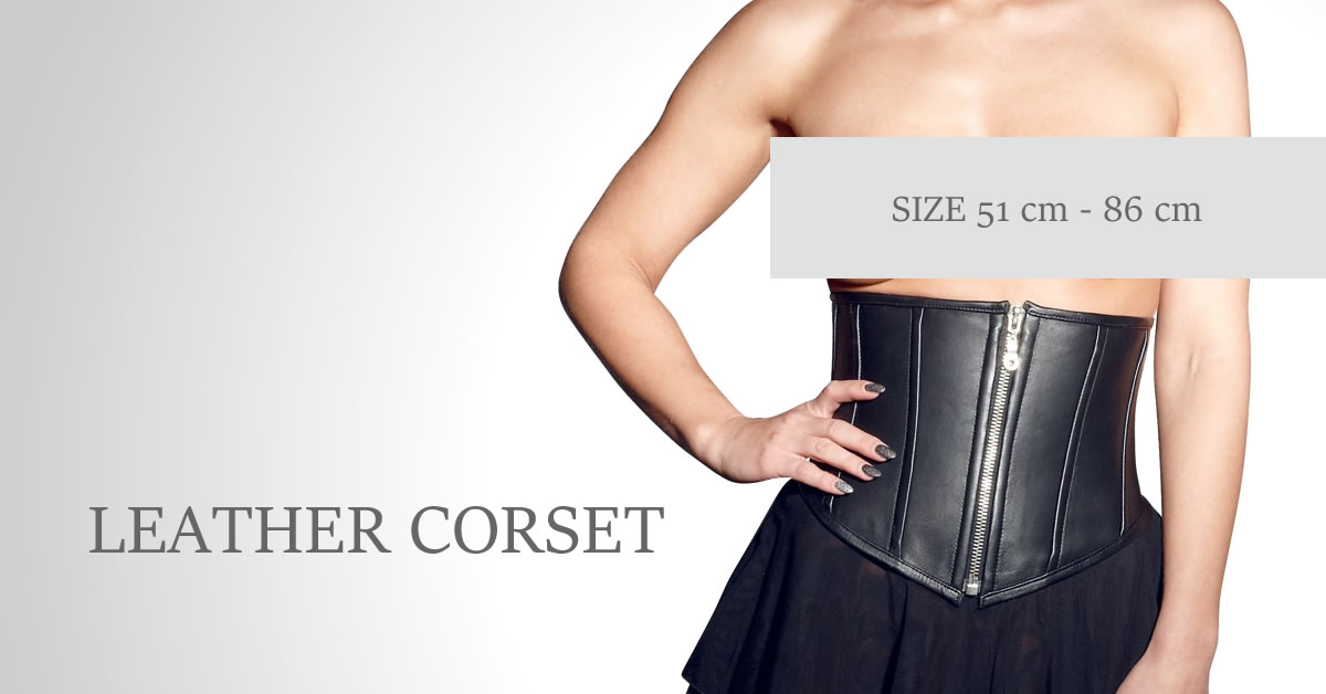 Leather Corset in Red