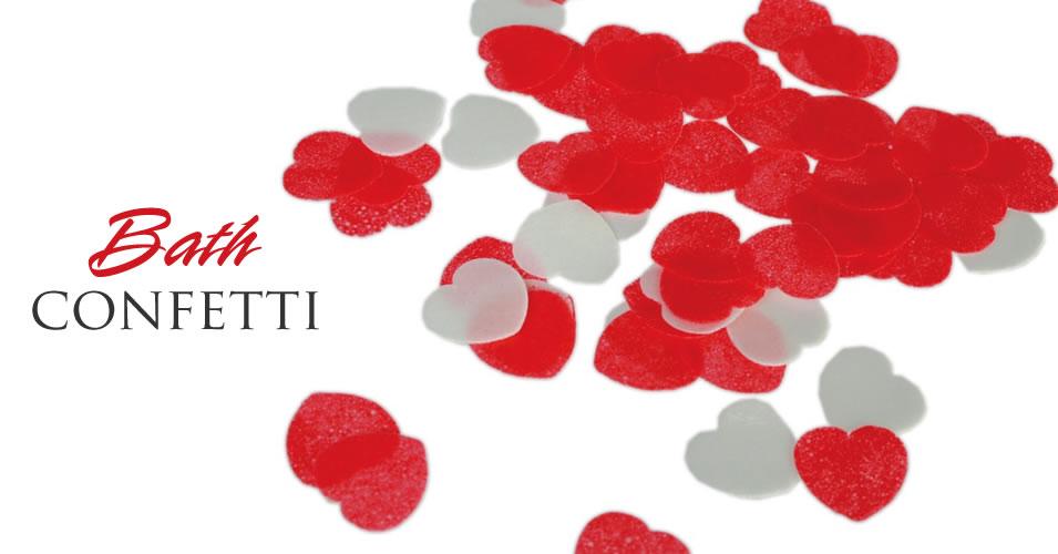 Bath Confetti Heart Shaped