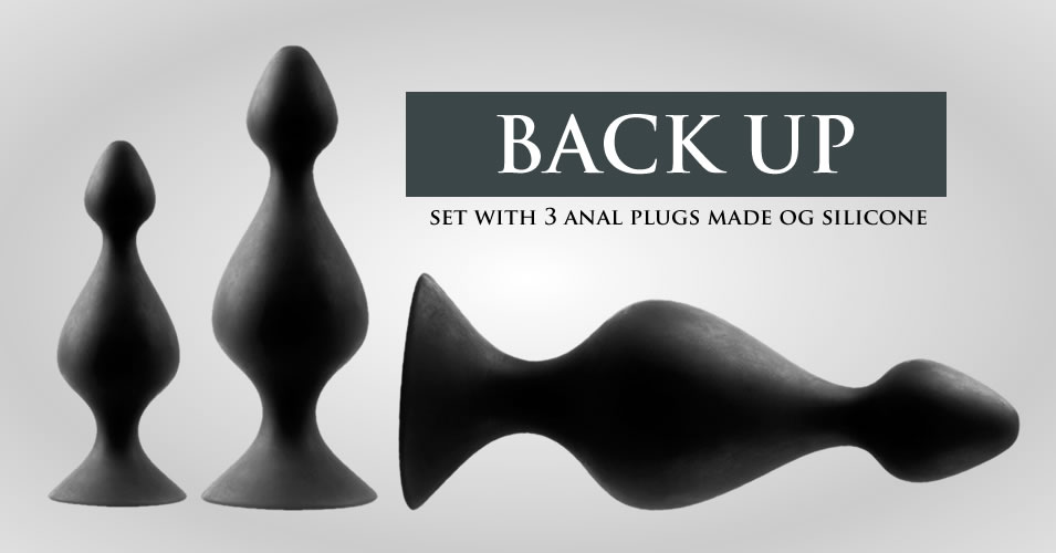 Back Up Butt Plug Silicone Set with 3 Sizes