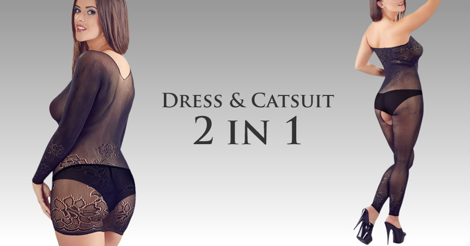 Dress or Catsuit - 2 in 1 lingerie