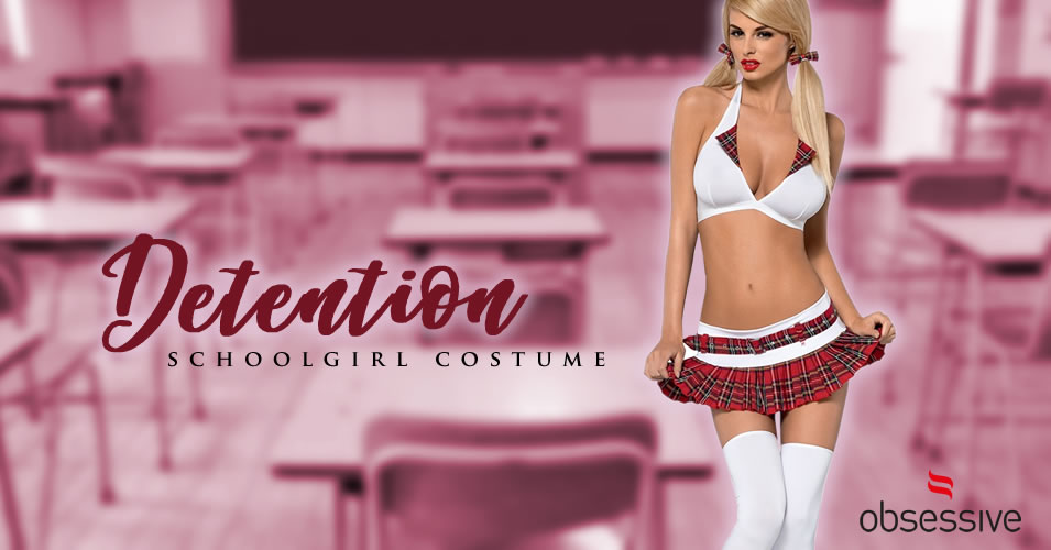 Obsessive Detention Schoolgirl Costume with 5 pieces