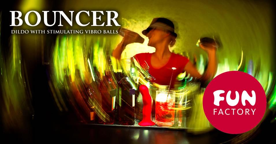 Fun Factory Bouncer Shake Dildo med Vibrokugler
