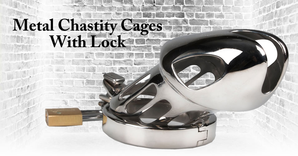 Metal Chastity Cage With Lock