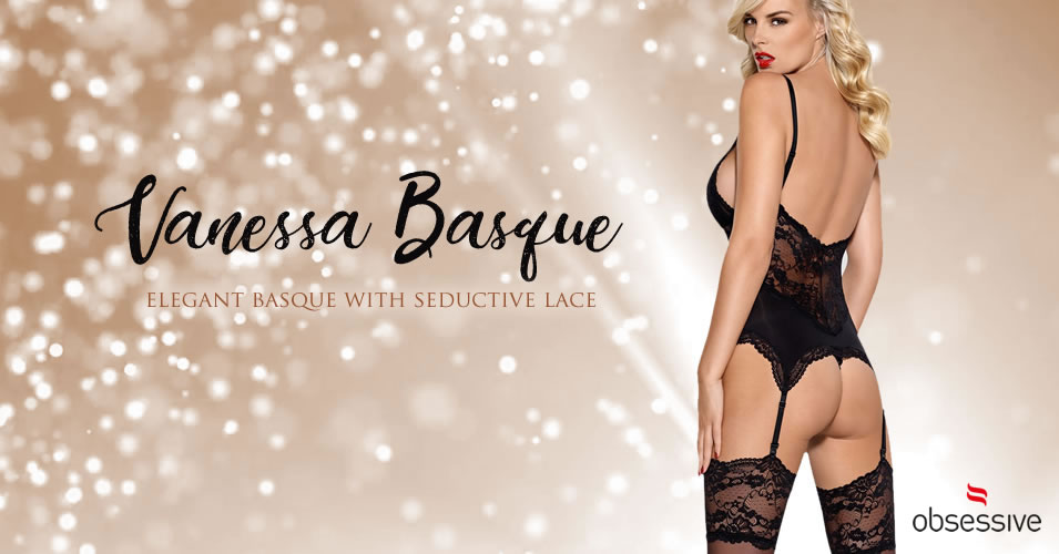 Obsessive Vanessa Lace Basque with Suspenders