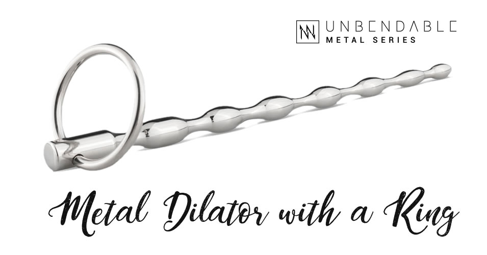 Sinner Gear Ribbed Metal Dilator With Ring