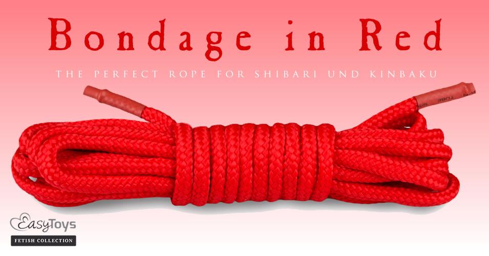 EasyToys Rødt Bondage Reb
