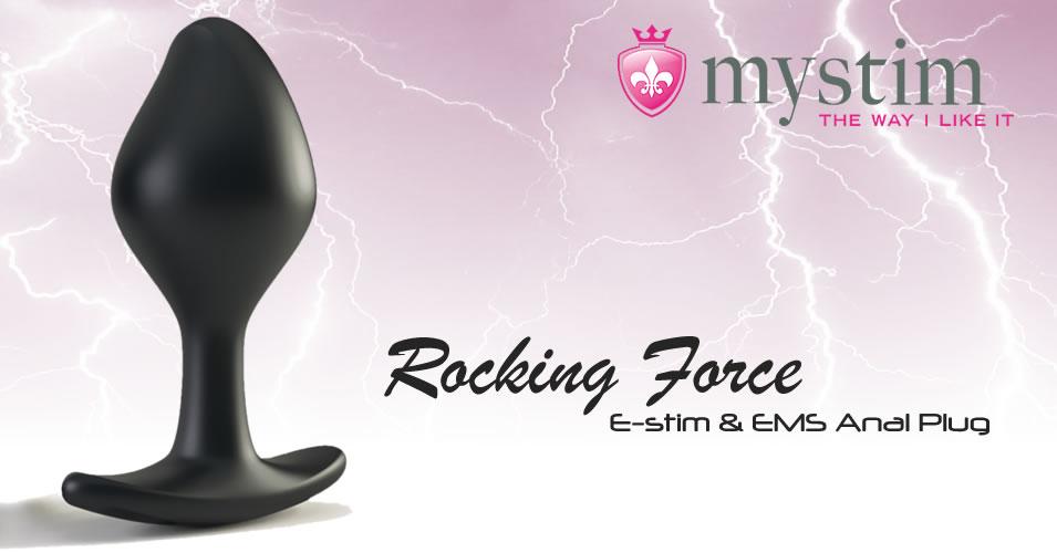Mystim Rocking Force E-stim EMS Butt Plug Bi-Polar