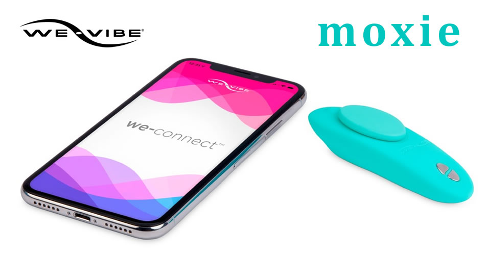 We-Vibe Moxie Lay-on Vibrator with Remote and Connect App