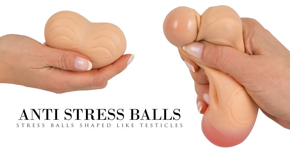 Stressbolde formet som Testikler