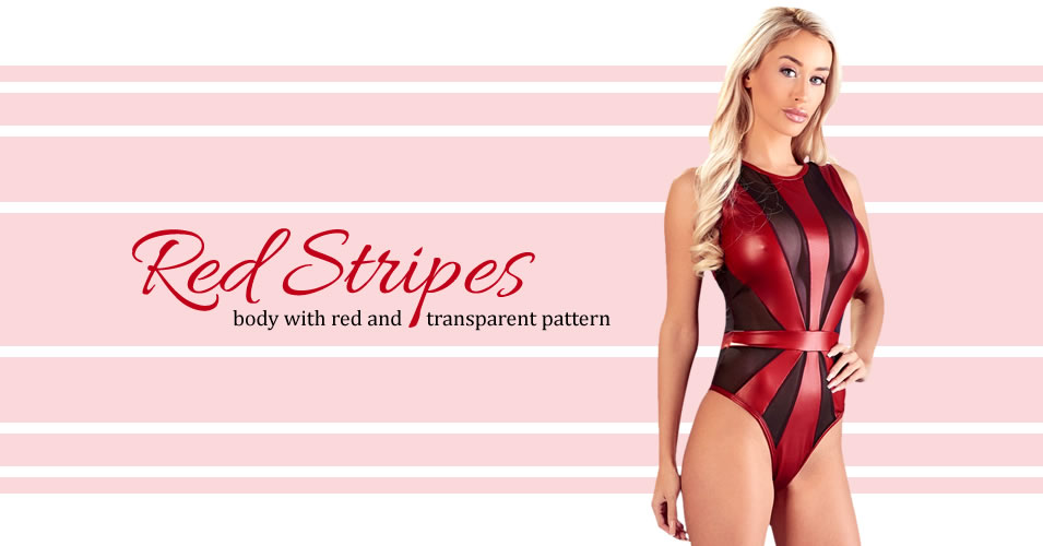 Red Wetlook Body with Transparent Inserts
