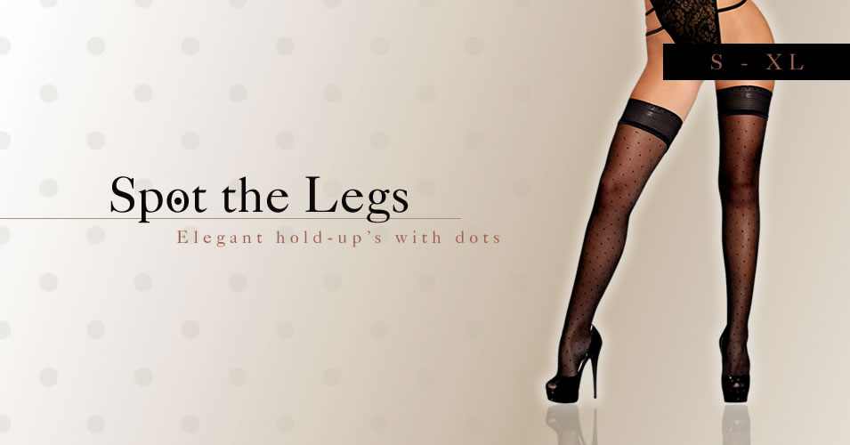 Hold-Up Stockings with Dots