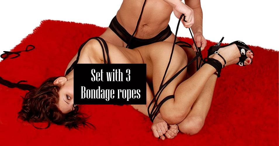Sort Bondage Reb Pakke - 20 m og 2 x 3 m