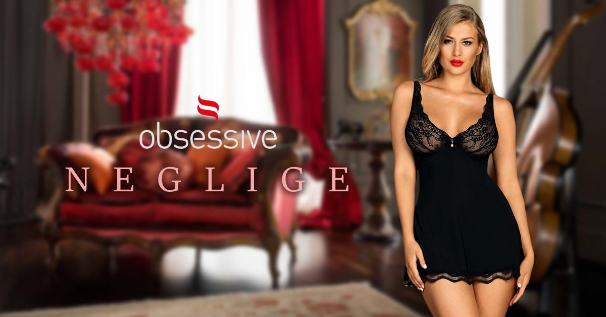 Obsessive Negligé med Blonder og Trusser