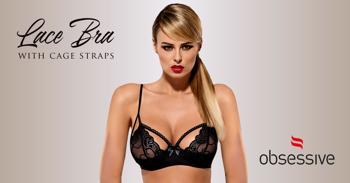 Obsessive Blonde BH med Cage Straps