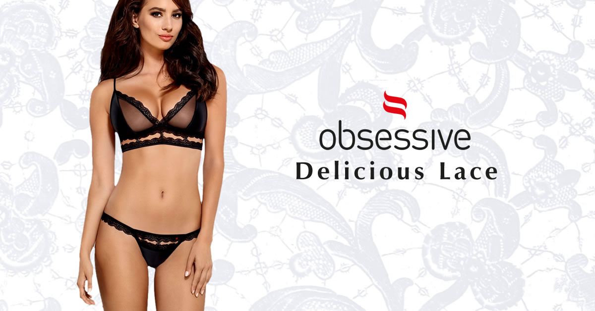 Obsessive Bra set with Lace Borders