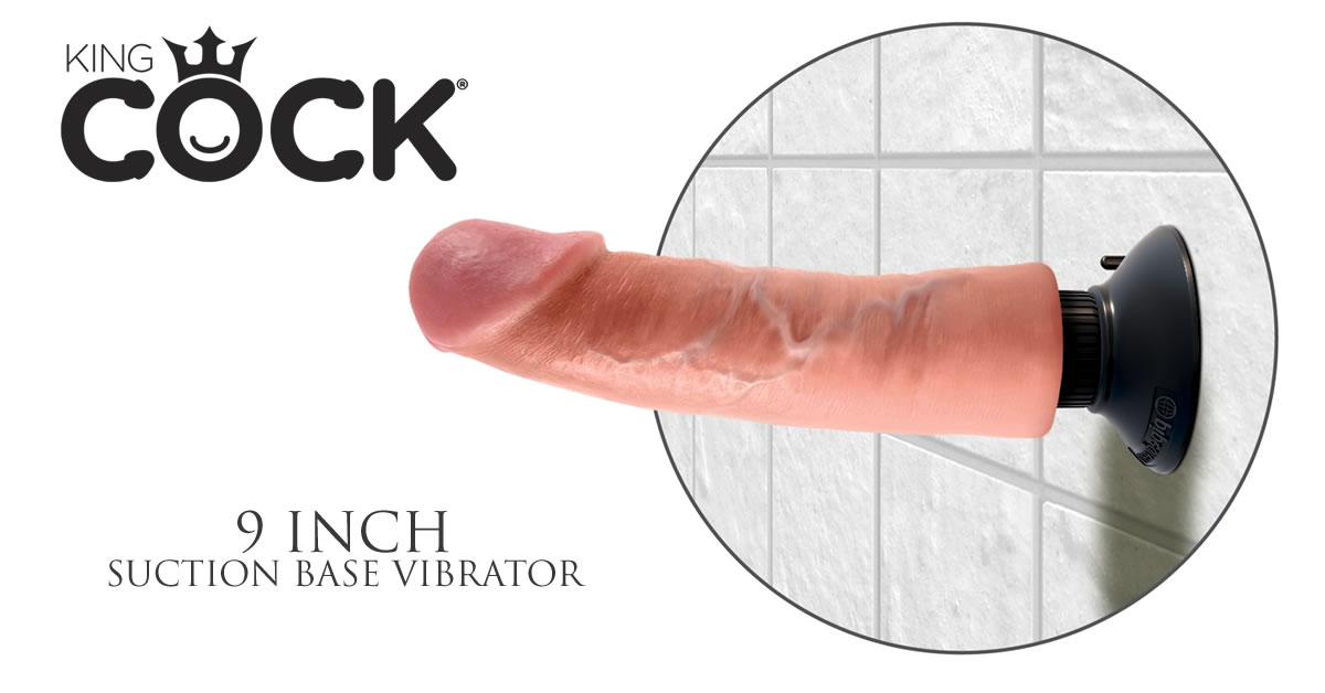 King Cock 9 Inch Vibrator med Sugekop