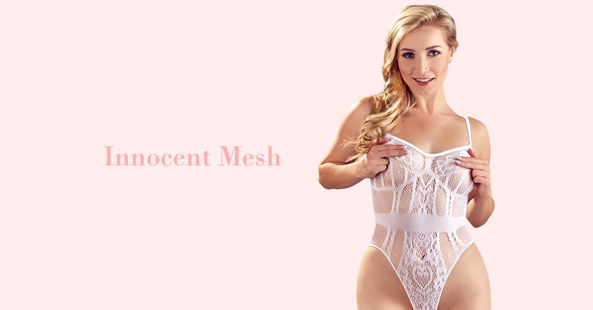 Net Body I Hvid med Blonder