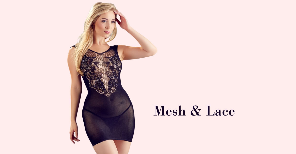 Net Dress with Lace Top