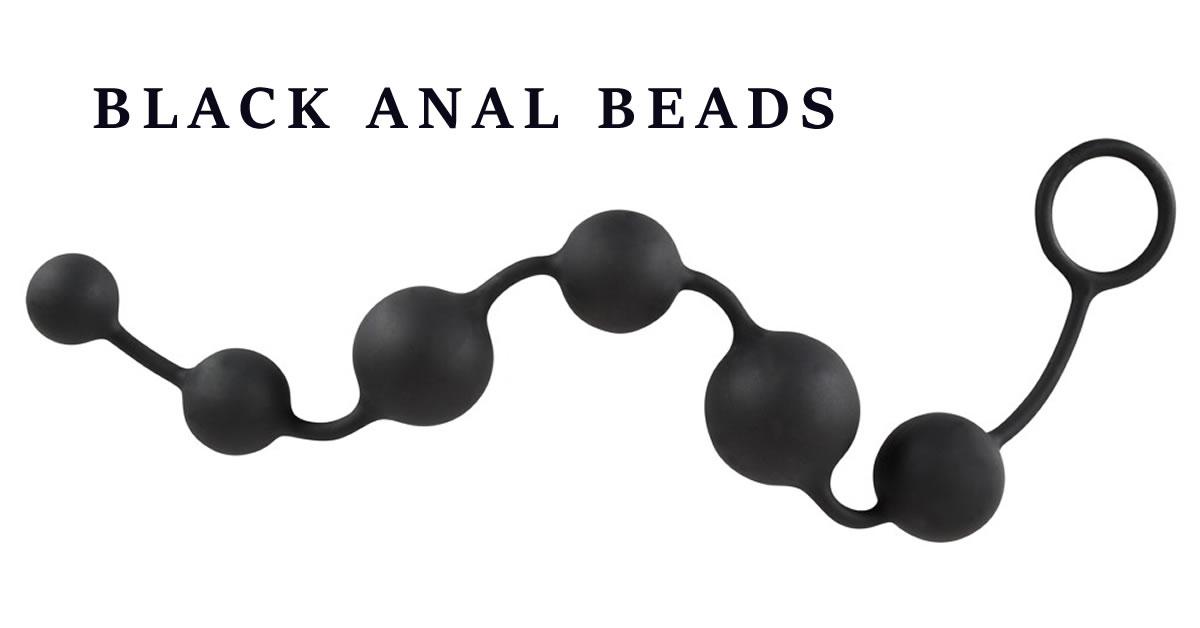 Black Velvet Silicone Anal Beads