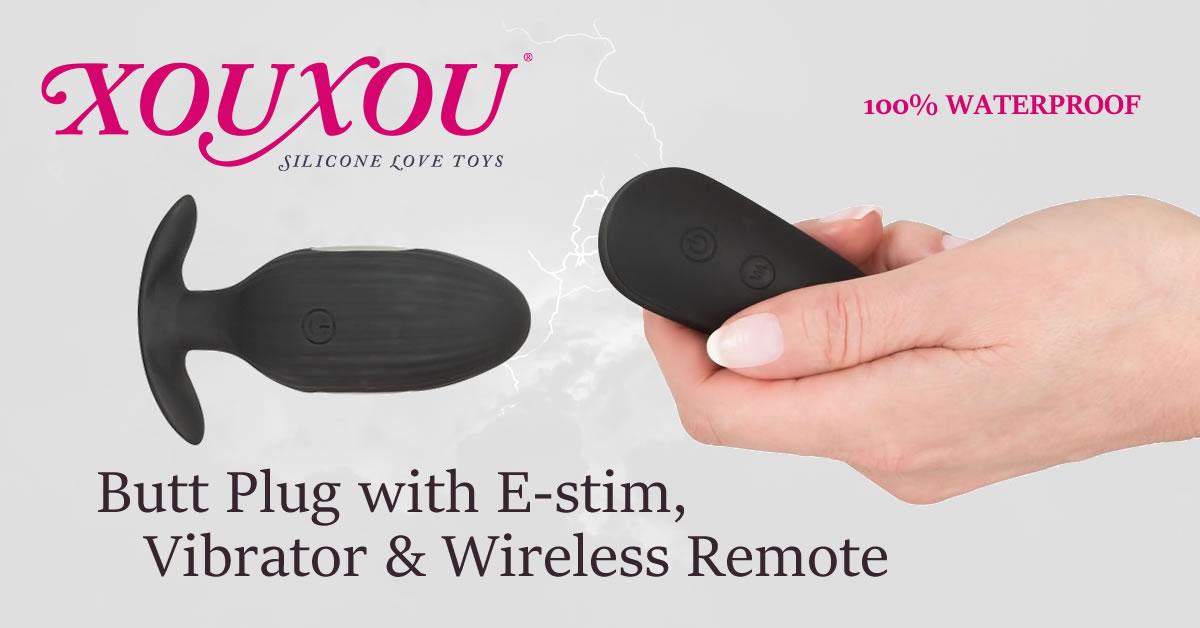 XOUXOU Vibrator Anal Plug med Pirrestrøm og Trådløs Fjernbetjening