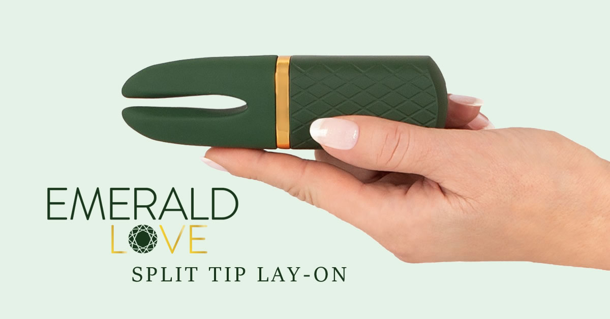 Emerald Love Luxurious Split Tip Lay-On Vibrator