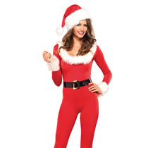 Santa baby Catsuit with Santa Hat