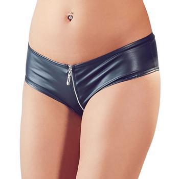 Panty mit Reißverschluss mit Leder-Look