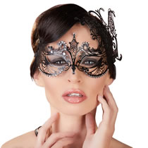 Venetian Metal Eye Mask with Rhinestones