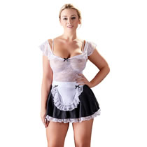 French Maid Costume with Lace Top