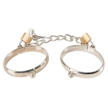 Metal Handcuffs with padlocks