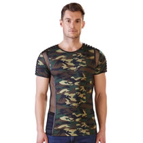 Camouflage Shirt with Net for Men