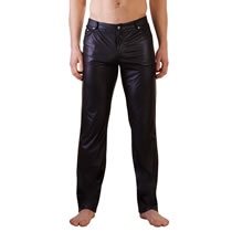 Mens Wetlook Trousers