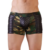 Mens Camouflage Pants with Wetlook